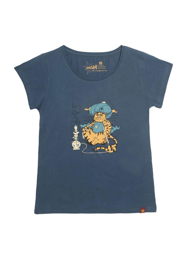 Nargileci Kedi - Lacivert